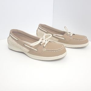 B.U.M equipment flats loafers beige size 8.5 women